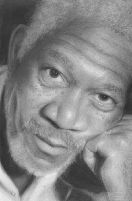 Morgan Freeman por Nat-Morley